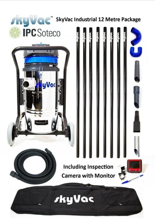 Profesiální vysavač SkyVac Industrial KSVIND12 s kamerovým systémem