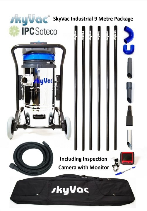 Profesiální vysavač SkyVac Industrial KSVIND9 s kamerovým systémem
