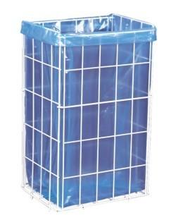 Odpadkový koš drátěný bílý kov 60 L