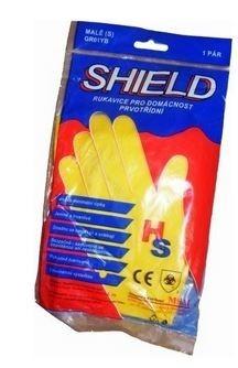 Rukavice úklidové latexové vel. M Shield