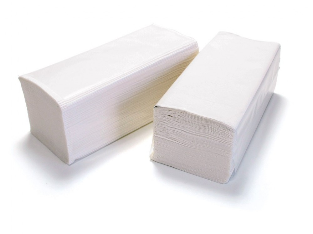 Ručníky papírové skládané ZZ bílé 1-vrstvé