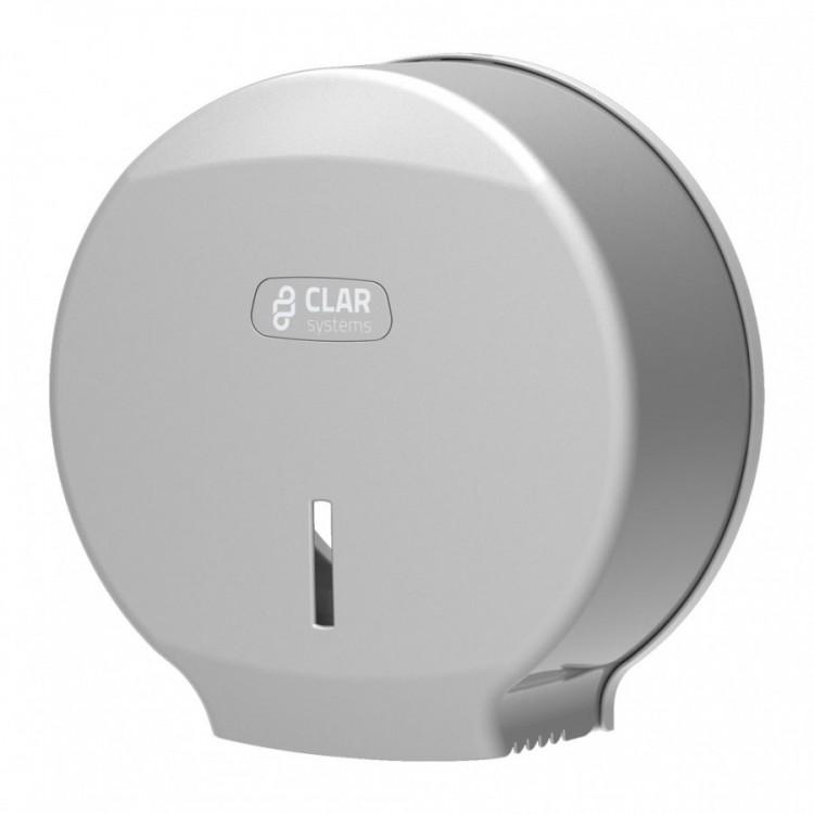 Zásobník toaletního papíru jumbo stříbrný Clarsystems