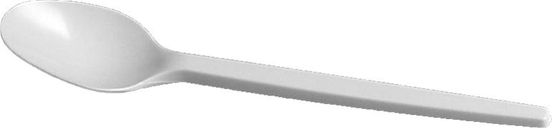 Lžička plastová bílá 100 ks/bal