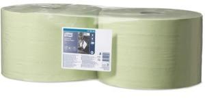 Utěrky papírové průmyslové Tork, 1 500 útržků, 510 m, 34 x 36,9 cm, 2 vrstvy, zelené, W1