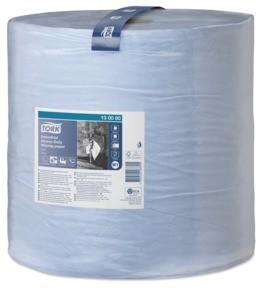 Utěrky papírové průmyslové Tork Heavy-Duty, 750 útržků, 34 x 36,9 cm, 225 m, 3 vrstvy, modré,  W1
