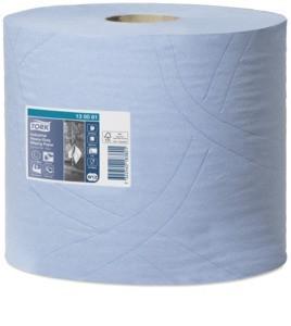 Utěrky papírové průmyslové Tork Heavy-Duty, 350 útržků, 34 x 23,5 cm, 119 m, 3 vrstvy, modré,  W1/W2