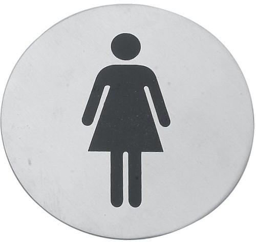 Cedulka WC ženy č.1