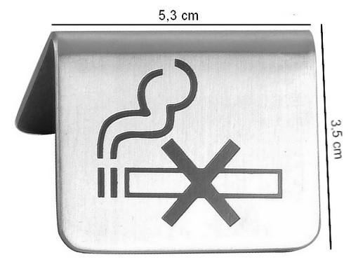 Zákaz kouření - cedulka na stůl