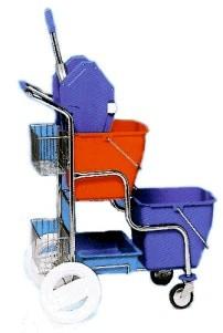 Úklidový vozík kaskáda s košíky