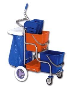 Úklidový vozík kaskáda s držákem na pytle